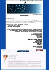 «IMCAS Annual Meeting» France, Paris февраль 2013